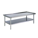 "Eagle T3060GS-X Griddle/Equipment Stand, 60-3/8""W x 30-3/8""D x 25-1/4""H, 16/300 stainless steel top, 1-1/4"" upturn on sides & rear, open base with"