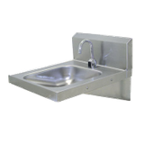 "Advance Tabco 7-PS-26 ADA Compliant Hand Sink, wall model, 14"" wide x 16"" front-to-back x 5"" deep, 18 gauge 304 series stainless steel, electronic faucet"