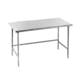 "Advance Tabco TSAG-245 Work Table, 60""W x 24""D, 16 gauge 430 stainless steel top, stainless steel legs with side & rear crossrails, adjustable stainless"