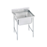 "Advance Tabco 94-61-18 Regaline Sink, 1-compartment, 24"" front-to-back x 18"" wide sink compartment, 14"" deep, with 11"" high splash, stainless steel legs"