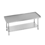 "Advance Tabco ES-242 Equipment Stand, 24""W x 24""D x 25""H (overall), 24"" working height, 14 gauge 304 series stainless steel top with 1"" upturn on rear"