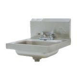 "Advance Tabco 7-PS-20 Hand Sink, wall model, 14"" wide x 10"" front-to-back x 5"" deep bowl, 20 gauge 304 series stainless steel, with deck mounted fixed"