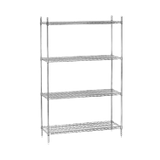 "Advance Tabco ECP-14-X Wire Shelving Post, 14""H, numbered, heavy duty, chrome plated, adjustable feet, NSF"