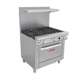 "Southbend H4361A-2GR Ultimate Restaurant Range, gas/electric, 36"", (2) non-clog burners, standard grates, (1) 24"" griddle right, standing pilot, (1)"