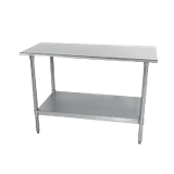 "Advance Tabco TT-244-X Special Value Work Table, 48""W X 24""D, 18 Gauge 430 Stainless Steel Top With Rolled Rim On Front & Rear"