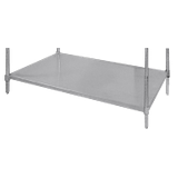 "Advance Tabco SH-1860 Shelving, solid, 18"" wide, 60"" long, stainless steel, plastic split sleeves included"
