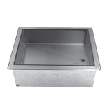 "Advance Tabco DICP-2 Cold Food Well Unit, drop-in, ice cooled, 34-1/8""W x 26-3/4""D x 10""H (overall), 32-5/8""W x 23-3/8""D (cutout size), 9"" deep well with"