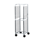 "Advance Tabco WR-36 Wire Pan Rack, full height, open sides, 1-1/2"" shelf spacing, holds 36 full size pans, aluminum with chrome plated steel wire racks"