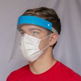 Reusable Face Shield with Foam Band and Anti-Fog PET to provide full-face protection