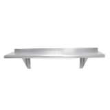 "Advance Tabco WS-12-48-16 Shelf, wall-mounted, 48""W x 12""D, 1-5/8"" bullnose front edge, 1-1/2"" rear upturn, 16/304 satin finish stainless steel, NSF"