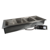 "Advance Tabco DISW-6-240 Hot Food Well Unit, drop-in, electric, 95-3/8W x 26-3/4""D (overall), 93-7/8W x 23-3/8D (cut out size), (6) 12"" x 20"" sealed"