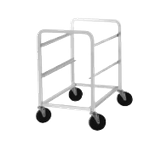 "Advance Tabco LR1 Lug Cart, full height, open sides, with slides for lugs, holds 1 lug, all-welded aluminum construction, 1"" square tubing, front & rear"