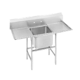 "Advance Tabco 94-21-20-36RL Regaline Sink, 1-compartment, with left & right-hand drainboards, 20"" front-to-back x 20"" W compartment, 14"" deep, with 11""H"