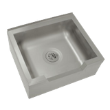 "Advance Tabco 9-OP-48DF Mop Sink with Drop Front, floor mounted, 33""W x 25""D x 16""H (overall), 28""W x 20"" front-to-back x 12"" deep (bowl size), free flow"