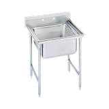 "Advance Tabco 94-81-20 Regaline Sink, 1-compartment, 28"" front-to-back x 20"" wide sink compartment, 14"" deep, with 11"" high splash, stainless steel legs"