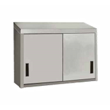 "Advance Tabco WCS-15-60 Cabinet, wall mount, enclosed design with (2) sliding doors, 60""W x 15""D, with single intermediate shelf, 18/430 stainless steel"