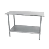 "Advance Tabco TT-240-X Special Value Work Table, 30""W X 24""D, 18 Gauge 430 Stainless Steel Top With Rolled Rim On Front & Rear"