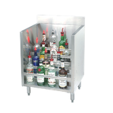 "Advance Tabco CRLR-24-X Liquor Bottle Display Unit, (5) steps, 24""W x 20-3/4""D x 33""H, approximately (30) bottle capacity, 4""backsplash, stainless steel"