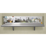 "Advance Tabco PA-24-72 Pass-Thru Shelf, 24""W x 72""L, cantilever brackets to secure to wall, galvanized hat channel, stainless steel shelf & brackets"