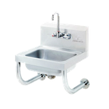 "Advance Tabco 7-PS-24B Tubular Wall Support Brackets, for hand sinks with 10"" x 14"" bowl & deck mounted faucets"