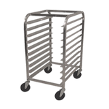 "Advance Tabco PR10-3W Pan Rack, half size, mobile, end loading, 20-1/4""W x 26""D x 38-1/2""H, (10) 18"" x 26"" sheet pan capacity, slides on 3"" centers"