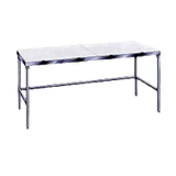 "Advance Tabco TSPT-306 Poly-Top Work Table, 72""W x 30""D, 5/8"" thick Poly-Vance top, stainless steel legs with side & rear cross rails, adjustable"