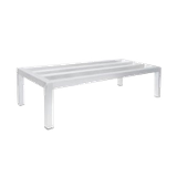 "Advance Tabco DUN-2448-8 Dunnage Rack, square bar, one tier, 48""W x 24""D x 8""H, aluminum finish, 1800 lb. load capacity (evenly distributed), NSF"