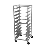 "Advance Tabco OT20-3 Oval Tray Rack, mobile, full height, 26""W x 28""D x 69-1/4""H, open sides, capacity (20) trays, 4"" wide angle slides on 3"" centers"