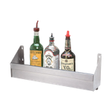"Advance Tabco SRK-30-X Underbar Basics Speed Rail, single tier, 30""W, (7-8) bottle capacity, keyhole mounting, stainless steel, NSF"