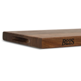 "John Boos WAL-R01 Cutting Board, 18""W x 12""D x 1-1/2"" thick, edge grain construction, American Black Walnut, with Boos Block Cream Finish with Beeswax"