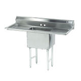 "Advance Tabco FC-1-1620-18RL-X Fabricated NSF Sink, 1-compartment, 18"" right & left drainboards, bowl size 16"" x 20"" x 14"" deep, 16 gauge 304 series"