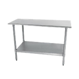 "Advance Tabco TT-304-X Special Value Work Table, 48""W X 30""D, 18 Gauge 430 Stainless Steel Top With Rolled Rim On Front & Rear"
