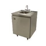 "Advance Tabco SHK-MSC-31CH Mobile Hand Sink, self-contained, 31""W x 26""D x 35-1/2""H, hot & cold water, removable (2) 5 gallons fresh water tanks & (2) 7"