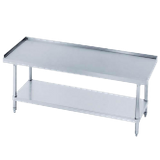 "Advance Tabco EG-LG-305-X Special Value Equipment Stand, 60""W X 30""D X 25""H (Overall), 24"" Working Height, 16/304 Stainless Steel Top With 1"" Upturn"