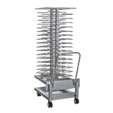 "Alto-Shaam 5016489/NT Roll-In Plate Cart, 60 plates capacity, 2-9/16"" vertical spacing, fits 20-10E, 20-10G, 20-20MW and QC3-100, stainless steel"