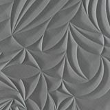 10' Wide x 4' Long Sculpted Petals Pattern Diamond Brushed Finish Thermoplastic Flexlam Wall Panel