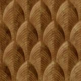 10' Wide x 4' Long South Beach Pattern Muted Gold Finish Thermoplastic Flexlam Wall Panel