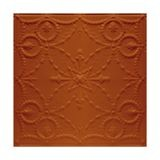 Tin Plated Stamped Steel Ceiling Tile | Nail Up/Glue Up Ceiling Tile | 2ft Sq | Metallic Copper Finish