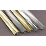1-1/4in Brushed Chrome Flexible PVC | Metallic Tee Moulding | 100ft Coil