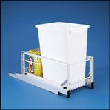 Pull Out Waste Container With 35 Quart White Container