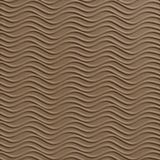 10' Wide x 4' Long Wavation Pattern Argent Bronze Finish Thermoplastic Flexlam Wall Panel