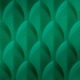10' Wide x 4' Long South Beach Pattern Mirror Green Finish Thermoplastic Flexlam Wall Panel