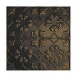 Tin Plated Stamped Steel Ceiling Tile | Nail Up/Glue Up Ceiling Tile | 2ft Sq | Midnight Gold Finish