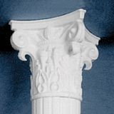 "Primed Decorative Corinthian Capital for 10"" Diameter Classic Aluminum Round Fluted Column"