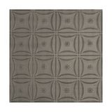 Tin Plated Stamped Steel Ceiling Tile | Nail Up/Glue Up Ceiling Tile | 2ft Sq | Antique Pewter Finish