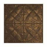 Tin Plated Stamped Steel Ceiling Tile | Nail Up/Glue Up Ceiling Tile | 2ft Sq | Kona Gold Finish
