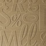 10' Wide x 4' Long Alphabet Soup Pattern Linen Beige Finish Thermoplastic Flexlam Wall Panel