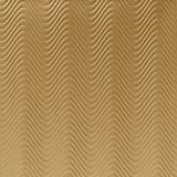10' Wide x 4' Long Curves Pattern Argent Gold Finish Thermoplastic Flexlam Wall Panel