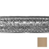 "10-1/2"" High x 10-1/2"" Projection Warm White  Finish Decorative Stamped Steel Cornice Moulding 4' Length"