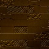 10' Wide x 4' Long Versa-Tile Pattern Oil Rubbed Bronze Finish Thermoplastic FlexLam Wall Panel